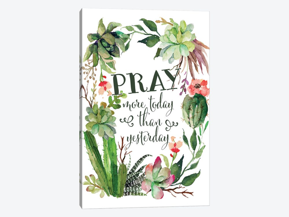 Pray More Today by Tara Moss 1-piece Canvas Art Print