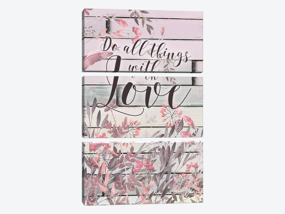 Do All Things With Love by Tara Moss 3-piece Art Print