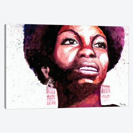 Nina Simone Canvas Print #MOV12} by Morgan Overton Art Print