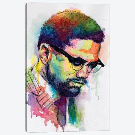 Malcolm X Canvas Print #MOV27} by Morgan Overton Art Print