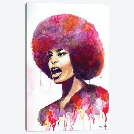Angela Davis Canvas Print #MOV2} by Morgan Overton Canvas Artwork