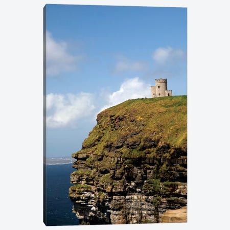 Scenic Cliffs Of Moher And O'Brien's Tower. 3-Piece Canvas #MPA11} by Marilyn Parver Canvas Print