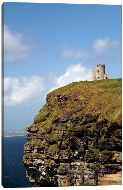 Scenic Cliffs Of Moher And O'Brien's Tower. Canvas Art Print