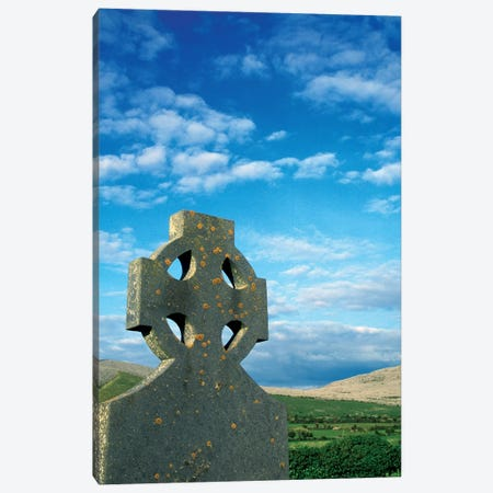 Europe, Ireland, Celtic Cross In Field. 3-Piece Canvas #MPA3} by Marilyn Parver Canvas Print