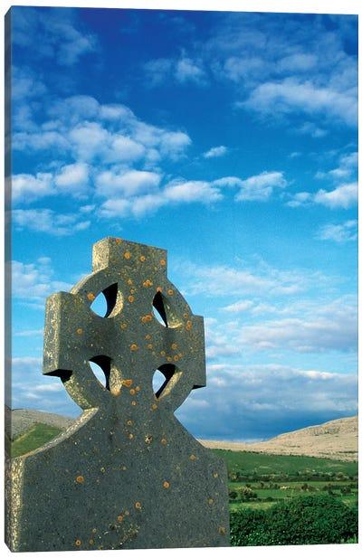 Europe, Ireland, Celtic Cross In Field. Canvas Art Print