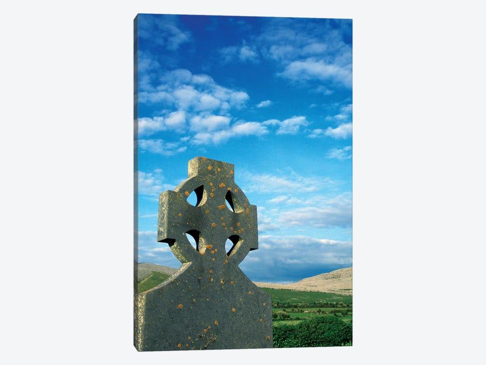 Europe, Ireland, Celtic Cross In Field. by Marilyn Parver 1-piece Canvas Art Print