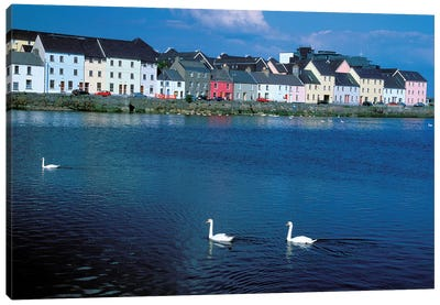 Ireland, Co Of Galway, Galway Bay Canvas Art Print
