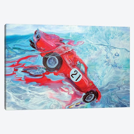 Ferrari No. 21 Canvas Print #MPC11} by Marcello Petisci Canvas Art Print