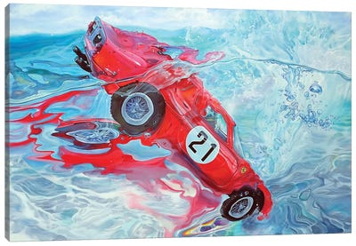 Ferrari No. 21 Canvas Art Print