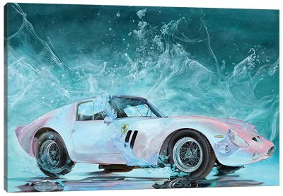 Pink Ferrari Canvas Art Print