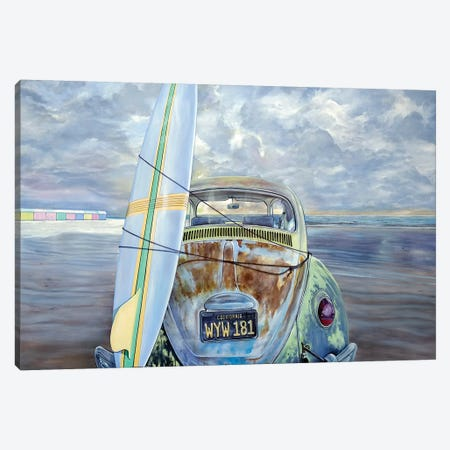 Surf Canvas Print #MPC28} by Marcello Petisci Canvas Art