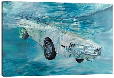 White Mustang Canvas Art Print
