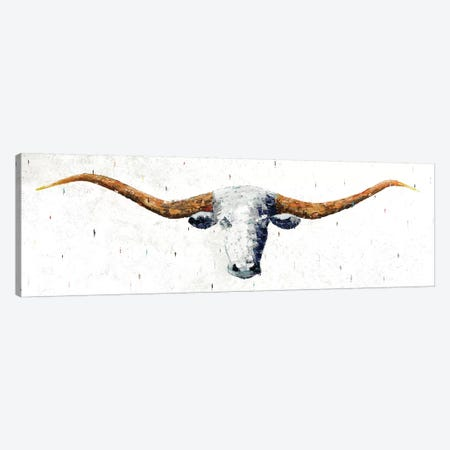 Longhorn Canvas Print #MPE6} by Marvin Pelkey Canvas Wall Art