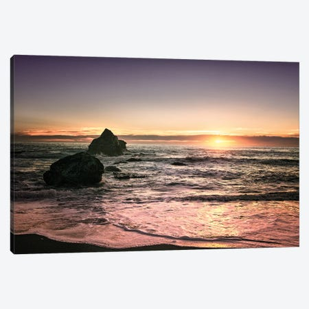 Oregon Sunset Canvas Print #MPH105} by MScottPhotography Canvas Wall Art
