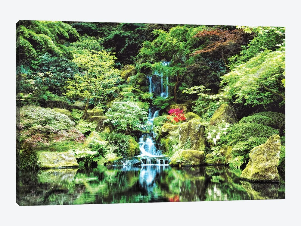 Portland Japanese Garden by MScottPhotography 1-piece Canvas Art Print
