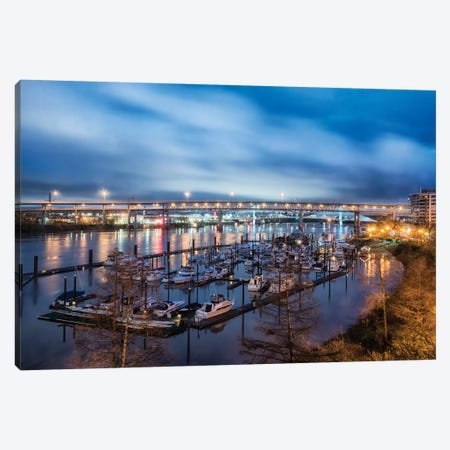 Portland Marina Canvas Print #MPH113} by MScottPhotography Canvas Art