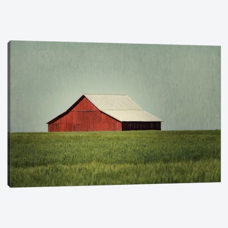 Red Barn Canvas Print #MPH116} by MScottPhotography Canvas Art Print