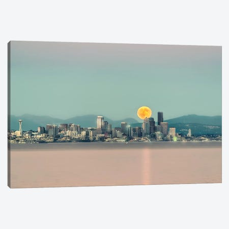 Seattle Blood Moon Canvas Print #MPH129} by MScottPhotography Canvas Print