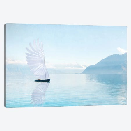 Winged Boat Canvas Print #MPH182} by MScottPhotography Canvas Art Print