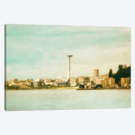 Alki Beach Canvas Print #MPH1} by MScottPhotography Canvas Artwork