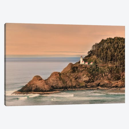 Heceta Head Lighthouse Canvas Print #MPH52} by MScottPhotography Canvas Art