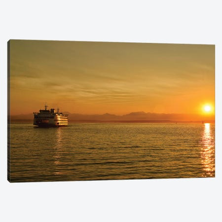 Bainbridge Ferry Canvas Print #MPH5} by MScottPhotography Art Print