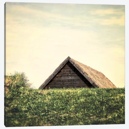 Little Brown Roof Canvas Print #MPH80} by MScottPhotography Canvas Print