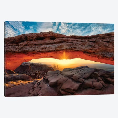 Mesa Arch Canvas Print #MPH84} by MScottPhotography Canvas Artwork