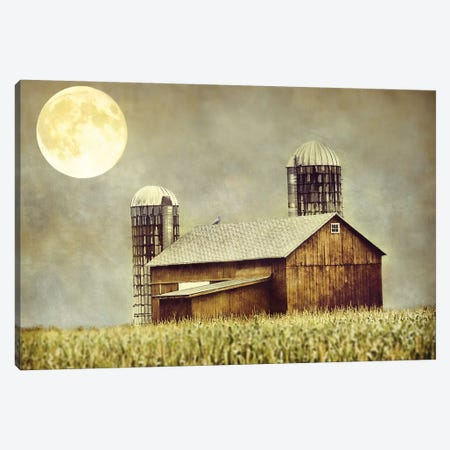 Moon Barn Canvas Print #MPH92} by MScottPhotography Canvas Wall Art