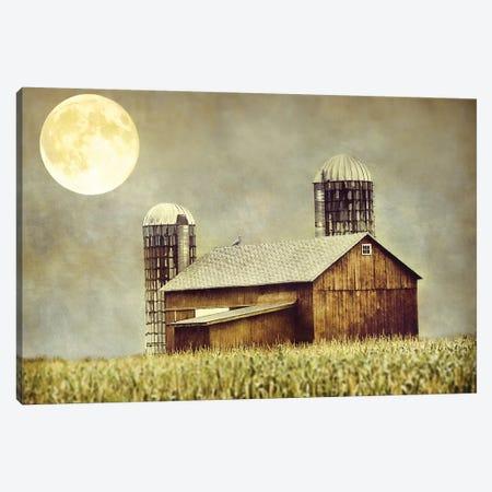 Moon Barn Canvas Print #MPH92} by MScottPhotography Canvas Wall Art