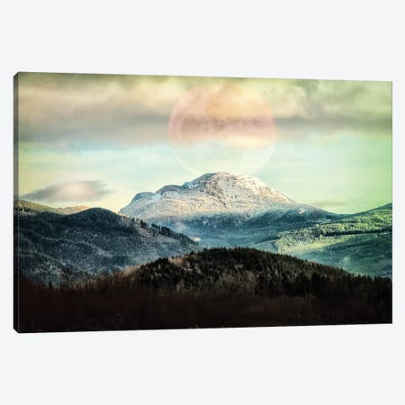 Moon Mountain Canvas Print #MPH93} by MScottPhotography Canvas Wall Art