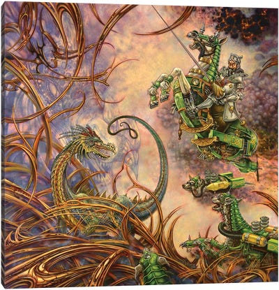 The Green Knight Canvas Art Print