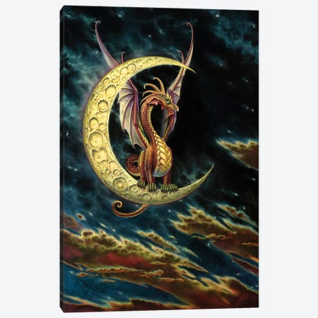 Moon Dragon Canvas Print #MPK14} by Myles Pinkney Canvas Artwork