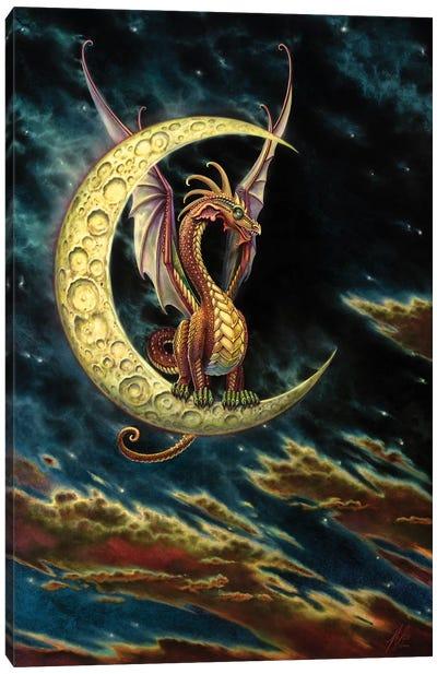 Moon Dragon Canvas Art Print
