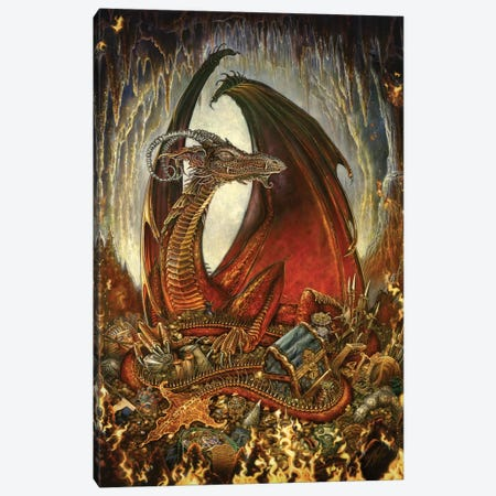 Treasure Dragon Canvas Print #MPK19} by Myles Pinkney Canvas Print