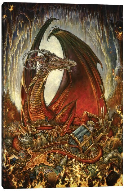 Treasure Dragon Canvas Art Print