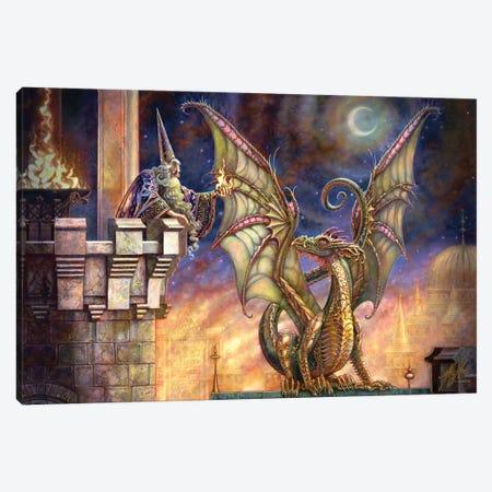 Dragon's Fire I Canvas Print #MPK7} by Myles Pinkney Canvas Artwork