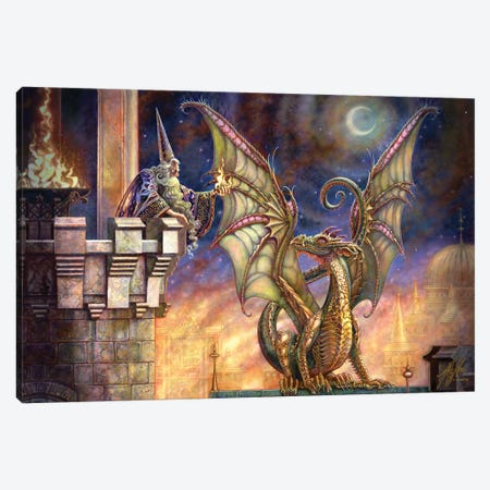 Dragon's Fire I Canvas Print #MPK7} by Myles Pinkney Canvas Artwork