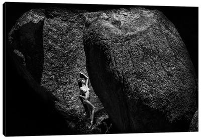 Between A Rock And A Hard Place Canvas Art Print