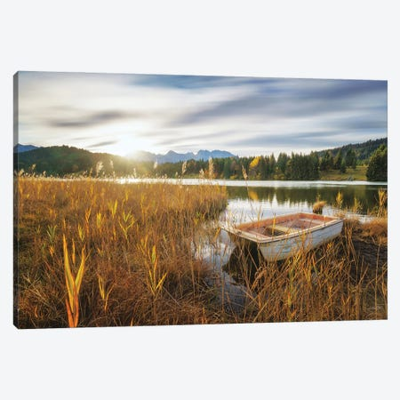At the Lake Canvas Print #MPO177} by Martin Podt Canvas Wall Art