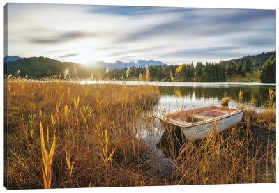 At the Lake Canvas Art Print