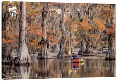 Me in a Canoe Canvas Art Print