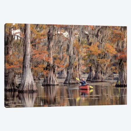 Me in a Canoe Canvas Print #MPO31} by Martin Podt Canvas Art Print