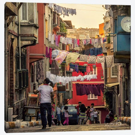 Streets of Istanbul Canvas Print #MPO36} by Martin Podt Canvas Wall Art