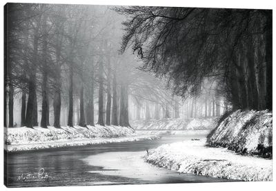 Winter River Canvas Art Print