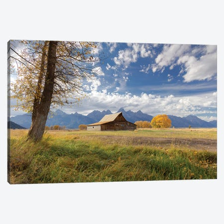 T.A. Moulton Barn, Mormon Row, Grand Teton National Park, Wyoming, USA Canvas Print #MPR10} by Maresa Pryor Canvas Art