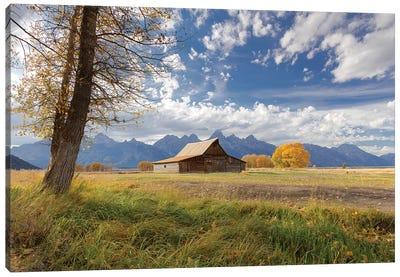 T.A. Moulton Barn, Mormon Row, Grand Teton National Park, Wyoming, USA Canvas Art Print