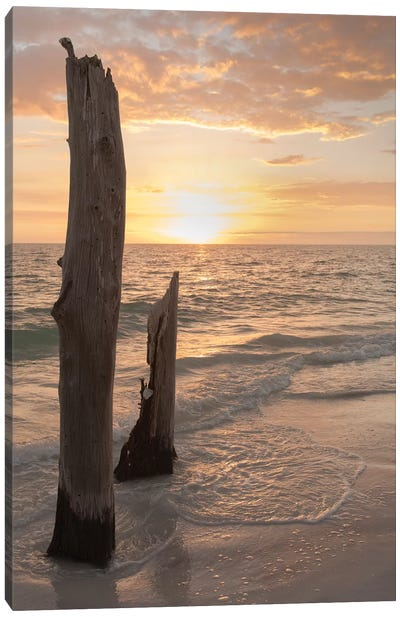 Sunset at Lovers Key State Park, Florida Canvas Art Print