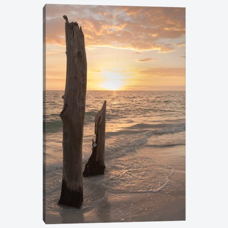 Sunset at Lovers Key State Park, Florida Canvas Print #MPR19} by Maresa Pryor Canvas Artwork