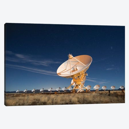 Radio telescopes at an Astronomy Observatory, New Mexico, USA I Canvas Print #MPR6} by Maresa Pryor Canvas Wall Art
